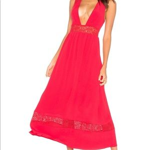 Pinewood maxi dress in red Majorelle